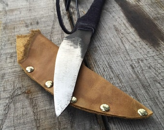 Men's or Woman's gift - Hand Forged Rustic File Knife