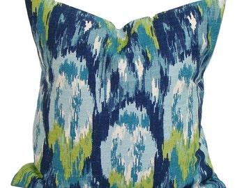 BLUE GREEN PILLOW Sale.14x14.Pillow Cover.Decorative Pillows.Housewares.Blue Pillow.Blue Throw Pillow. Blue Accent Pillow.Small Pillow