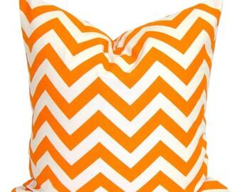 Orange Chevron Pillows, Decorative Pillows, ALL SIZES, Orange Pillow Covers,  Home Decor, Orange Cushion, Orange Throw Pillow, Orange Euro