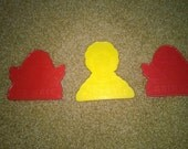 Yellow Ronald McDonald Cookie Cutter & 2 Red Grimace Cookie Cutters