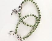 My Skinny Initial Beaded Charm Bracelet