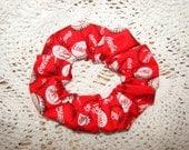 Coca Cola fabric Handmade Hair Scrunchie soda pop drinks coke