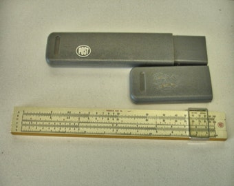 "Vintage Frederick Post Slide Rule # 1447 Hemmi "" Sun"" Japan With Case"