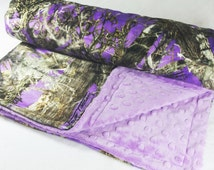 Baby Blanket - Purple True Timber - Purple Camo Blanket - Purple Camo Blanket - Camouflage Minky Baby Blanket - Camo Baby Blanket - Blanket