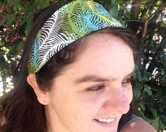 Reversible Green Fern Headband