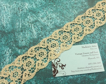 1 yard of 2 inch Ivory Cotton Venise Lace trim for wedding, bridal, scrapbooking, jewelry, housewares, couture by MarlenesAttic - Item 5FF