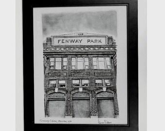 Boston red sox gift Red Sox Poster art print - Fenway park - Boston art Baseball Fan Gift