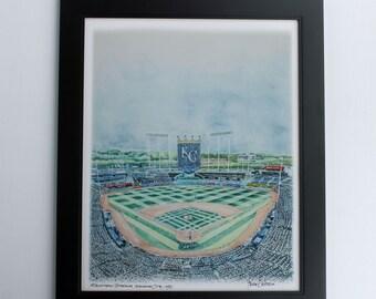 2015 world series Kansas City royals framed art print 11x114