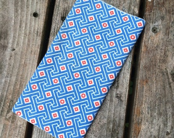 Vintage American Feedsack Fabric - Grecian Geometric