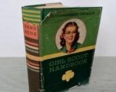 Vintage Children's Book - Girl Scout Handbook: Intermediate Program - 1946 - Mid Century Children's Book