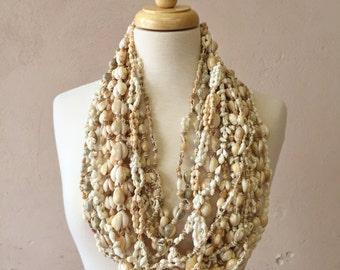 destash of seashell necklaces each one unique--mixed lot of 15