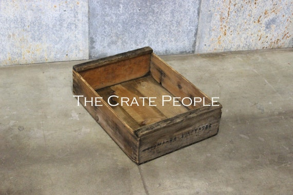 Vintage wood crates vineyard crate thousands in stock for Old wooden crates
