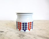 Vintage Arabia Finland Current Jam Jar Mid Century Hard To Find