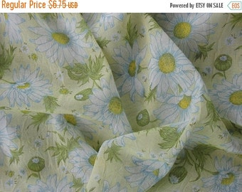 20% SALE Sheer Fabric Cotton Fabric Floral Fabric Daisy Fabric Lightweight Cotton Fabric Yellow Fabric by the Yard - 1 Yard - SF1242