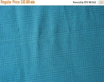 40% OFF Blue Green Plaid Cotton Polyester Suiting Fabric - 1 5/8 Yard - MSF0333
