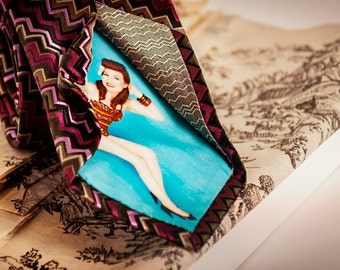 Custom Peek-A-Boo tie with YOUR photo hidden inside.  Tie Options.