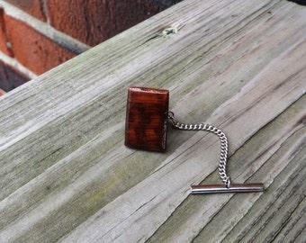 Wood Tie Tack Handmade Snakewood