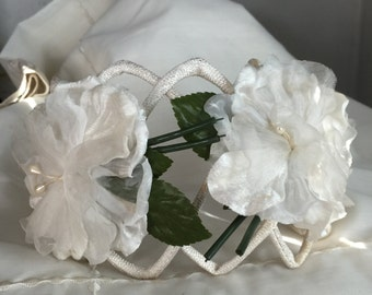 Vintage Ladies flower hat wedding any occasion
