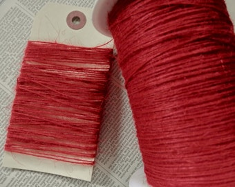 JUTE TWINE RED Scarlet Thin Strong