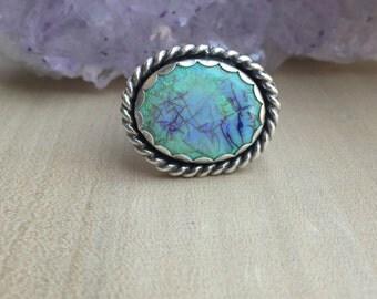 Opal Ring, Opal Jewelry, Monarch Butterfly, Butterfly jewelry, Butterfly Ring, Sterling Silver Ring, Silver Ring - Monarch Opal Ring