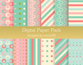 Digital Paper Pack, Commercial use Included, 12 high quality sheets at 300 DPI, 1000x1000 pixel. Instant download.