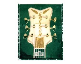 Gretsch Flacon guitar art print / music gift / rock n roll art / music room decor / guitar gift / man cave art