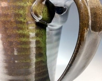 Ceramic Mug - Handmade Pottery - Green Stoneware