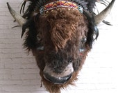 Reserved for lisa only please Tahoma Buffalo Faux Taxidermy