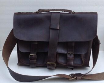 Leather Messenger Bag/Top Handle Mens Messenger Bag/Leather CrossBody Top Handle Bag/Shoulder Bag/Handmade leather Bag/Men Christmas Gift
