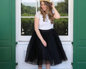 Bethany - Custom Made Ladies Tulle Skirt
