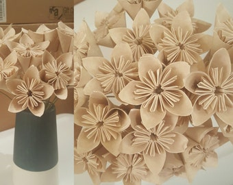 MOVING SALE: Champagne Shabby Chic Bouquet of 21 stemmed flowers