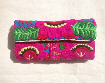 Handmade Oriental Embroidered Card Wallet
