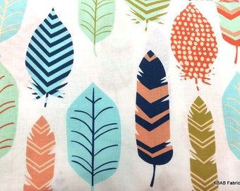 Feather fabric 100% Cotton Quilting Sewing 1 yard