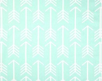 mint arrow fabric 1 yard EXTRA wide