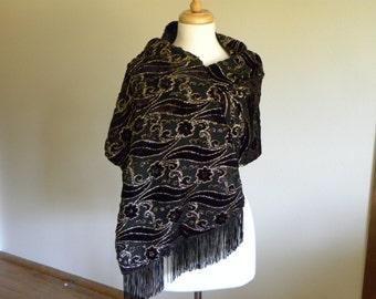 Velvet Shawl Burnout Velvet Shawl Ladies Apparel Plus Size Wrap Velvet Evening Wear