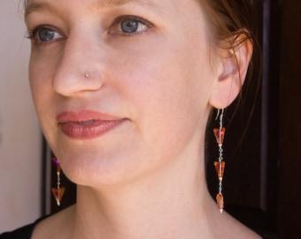 Sterling Silver and Swarovski Dangle Earrings