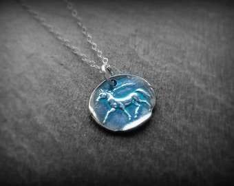 Silver horse charm - fine silver pendant for horse lovers by RECREATE4U