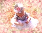 Tiny Ballerina Tutu Outfit with Over the Top Hairbow - SALE - 18 months Only
