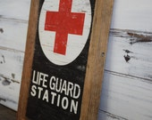 Rustic Lifeguard Sign