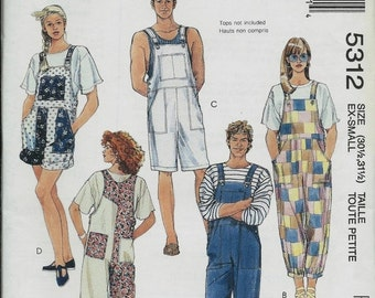 ON SALE McCall's 5312 Misses, Men's and Teens Overalls Pattern, Three Lengths, 30 1/2 - 31 1/2 & 34 1/2 - 36 UNCUT