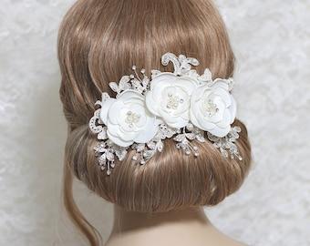 Bridal headpiece, bridal hair accessories, bridal hairpiece, bridal hair clip, wedding hair, Hair Accessories