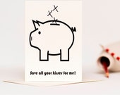 Save All Your Kisses - Romantic Greetings Card