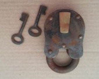 Large Old Pad Lock with Keys