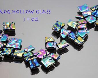 Mosaic Tiles in Rainbow Colors, Dichroic Glass Tiles