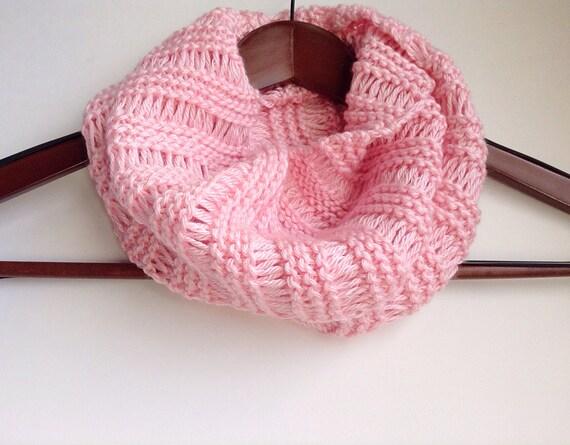 Pretty n Pink Cowl Knitting Pattern Lace Knit Cowl