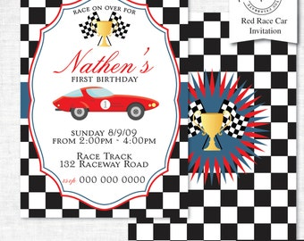 Race Car Party Invitation | Race Car Party Invitation Printable | Race Car Party | Party Printables