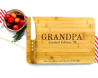 Personalized Cutting Board, Custom Cutting Board, Gift for Dad, Limited Edition, Men's Gift