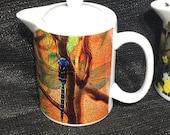 Blue Dragonfly Teapot