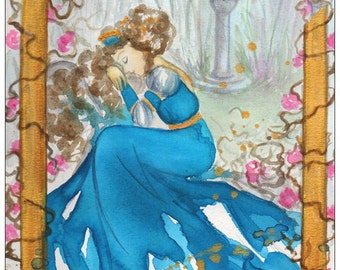 Sleeping Beauty postcard