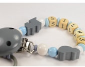DIY KIT Pacifier clip personalized